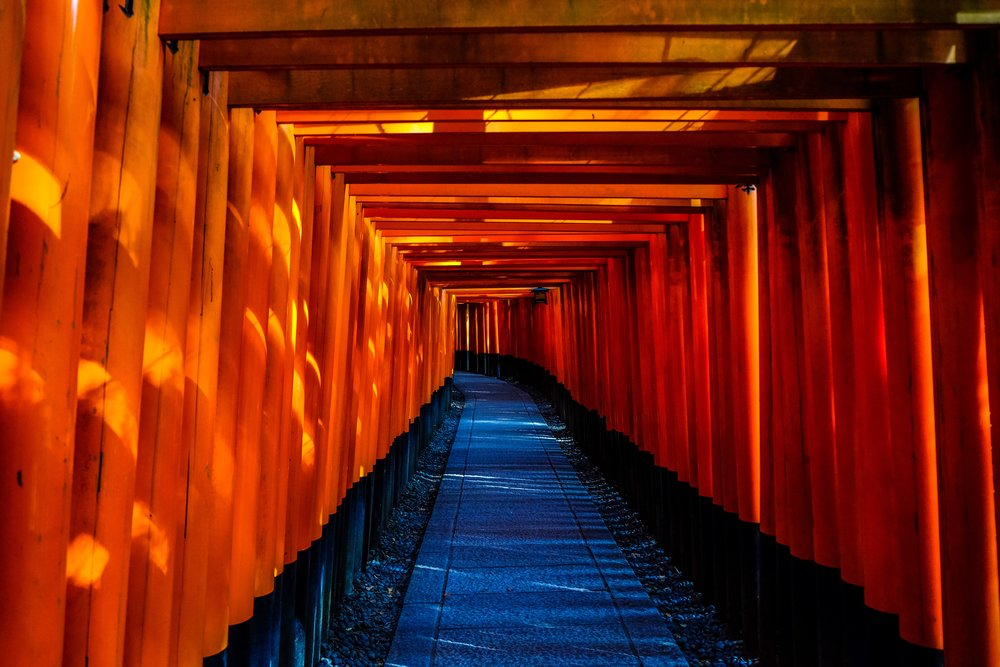 walking through his-torii -