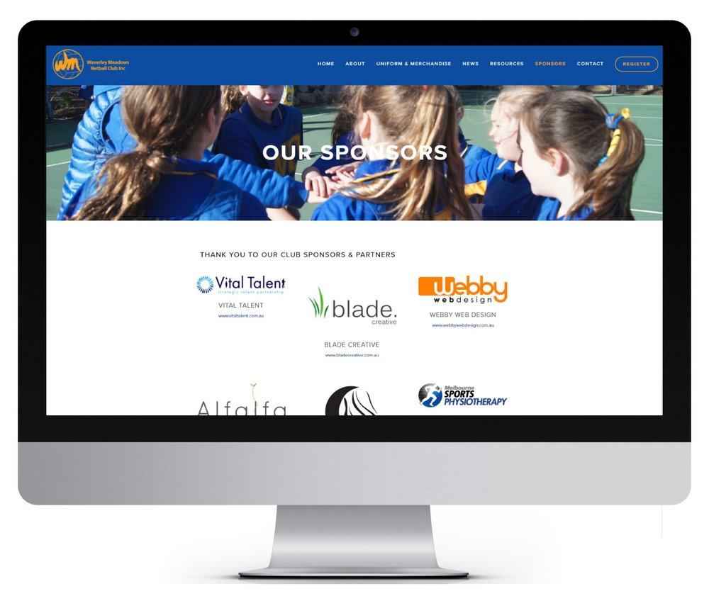 Our website sponsors page