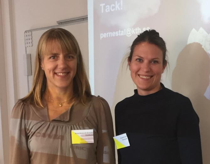 Dr Anna Pernestål Brenden från KTH och Elisabet Elm från Västtrafik