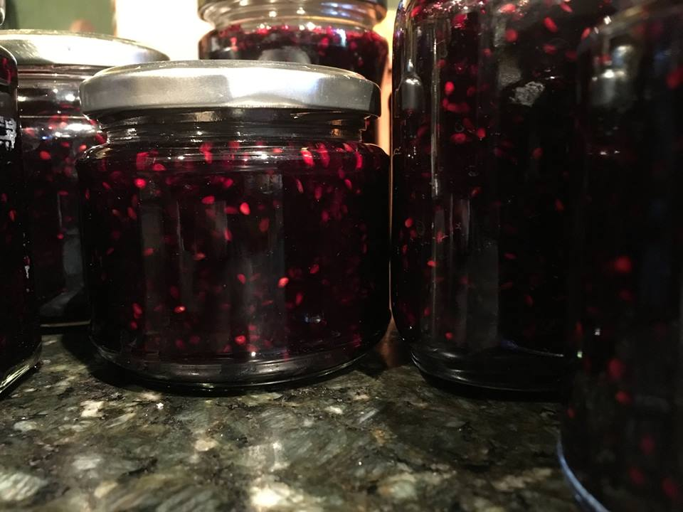 Delicious home-made blackberry jam for guests at our private holiday letting near Ronda, Andalucia, Spain