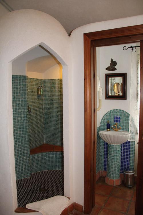 En suite bathroom 3 at luxury villa rental in Ronda, Andalucia, Spain
