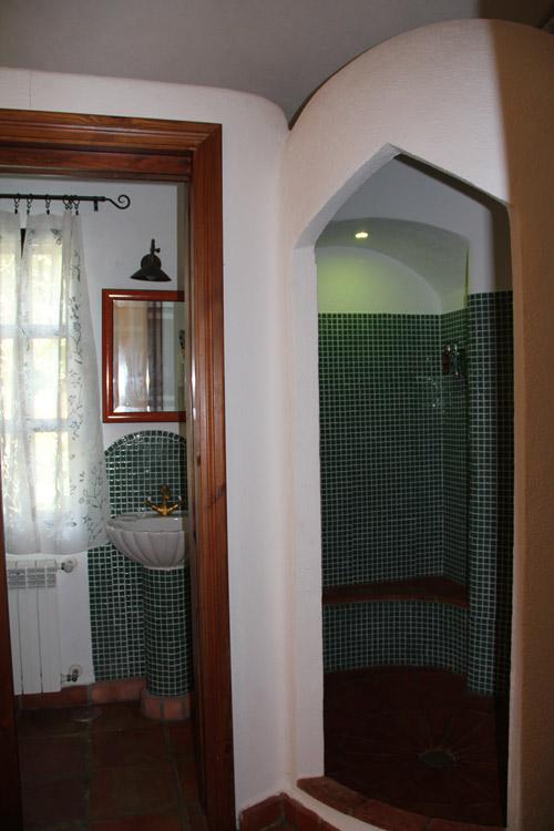 En suite bathroom 4 at luxury villa rental in Ronda, Andalucia, Spain