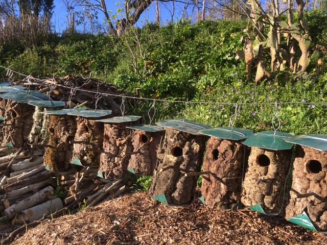 Homemade bird houses at private villa rental in Ronda, Andalucia, Spain