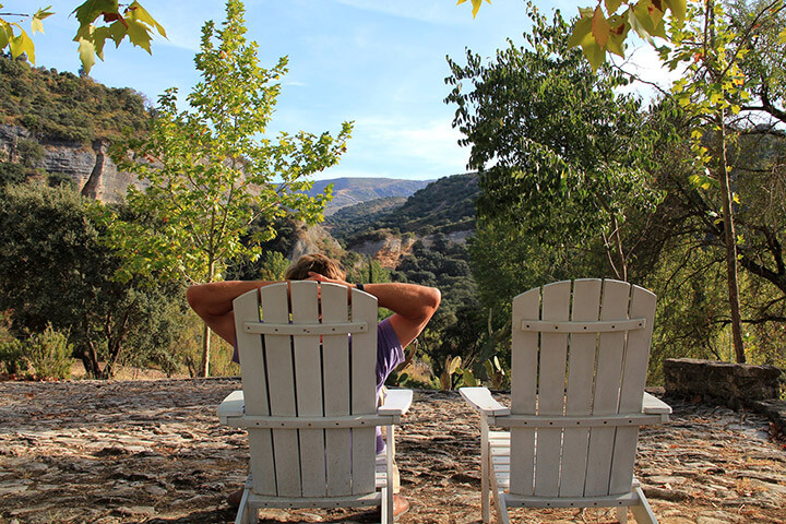 Relaxing at luxury villa rental in Ronda, Andalucia