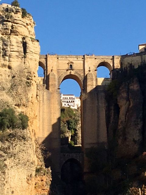 Dramatic views from the Puente Nuevo - a site worth visiting from our luxury villa rental in Ronda, Andalucia, Spain