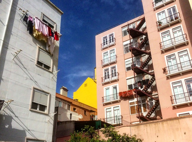 When I leave the studio, this yellow building always pops up in my view and I love that.