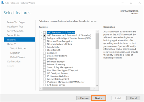 Enable Virtualization (Hyper-V) in Windows Server 2016 — DSKOLI