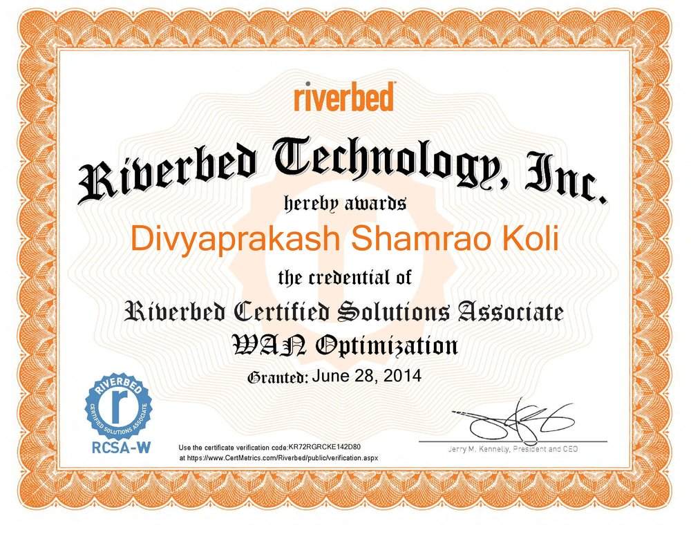 Riverbed Certified Solutions Associate - WAN Optimization certificate-page-001.jpg