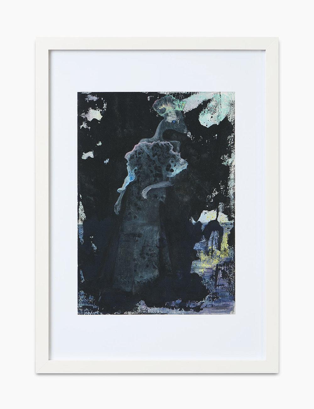 Max Marion Kober Ohne Titel 2016  Gouache auf Papier 29,7 x 21 cm
