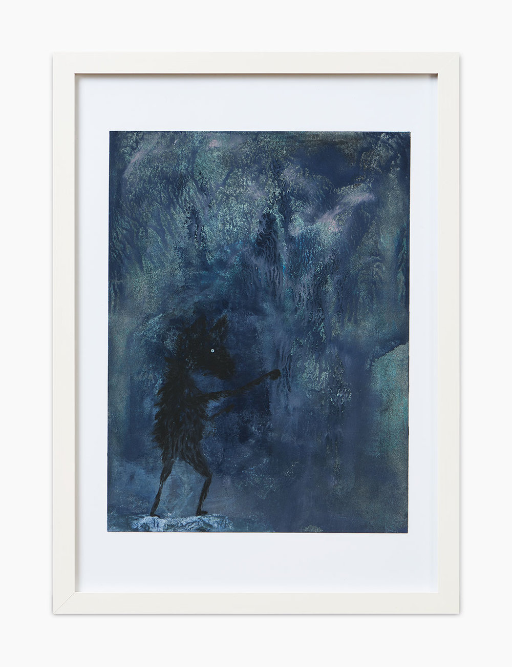 Max Marion Kober Ohne Titel 2016  Gouache auf Papier 32 x 24 cm