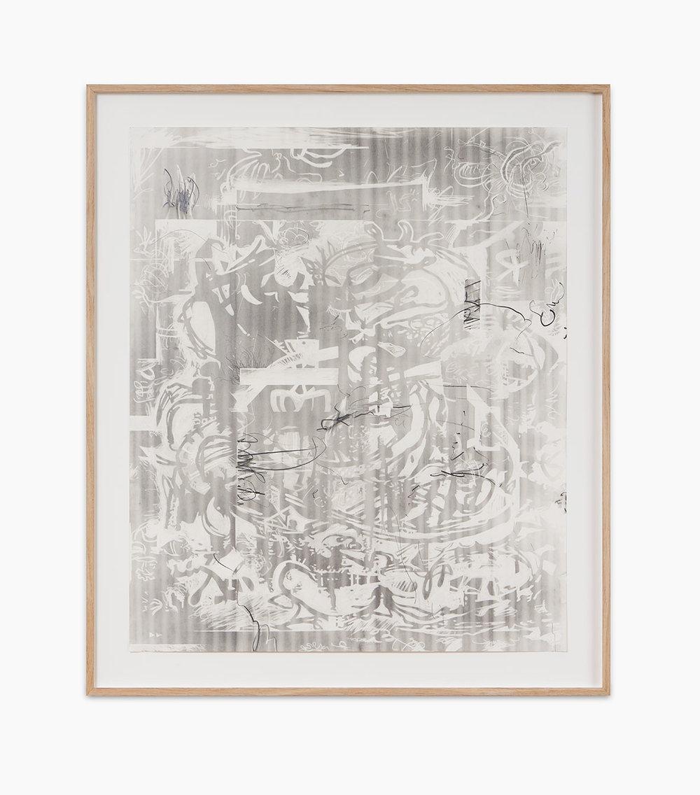 Jan-Ole Schiemann Osc Mix (series) 2016  Graphit auf Papier 60 x 50 cm