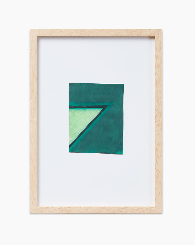 Walter Dahn Feld / (7) 2013  Wasserfarben auf Papier 12 x 9,2 cm