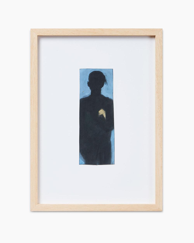Walter Dahn Sign 2014  Wasserfarben auf Papier 16,5 x 6,1 cm