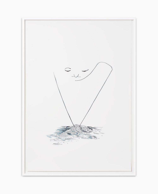 Benjamin Houlihan dishwasher 2015  Tusche auf Papier 100 x 70 cm