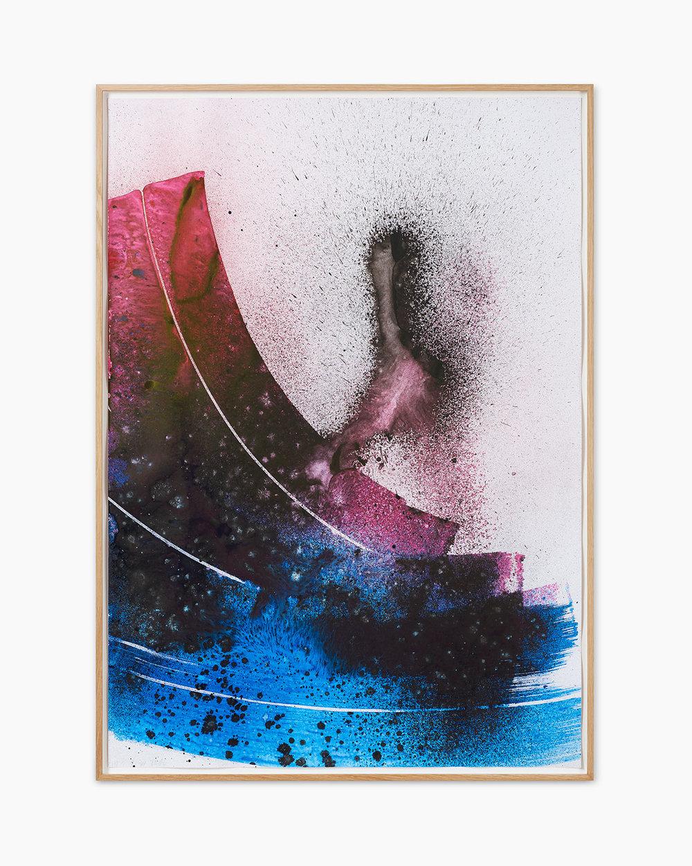 Max Frintrop Ohne Titel 2016  Tusche, Acryl, Pigmente auf Papier 102 x 72 cm