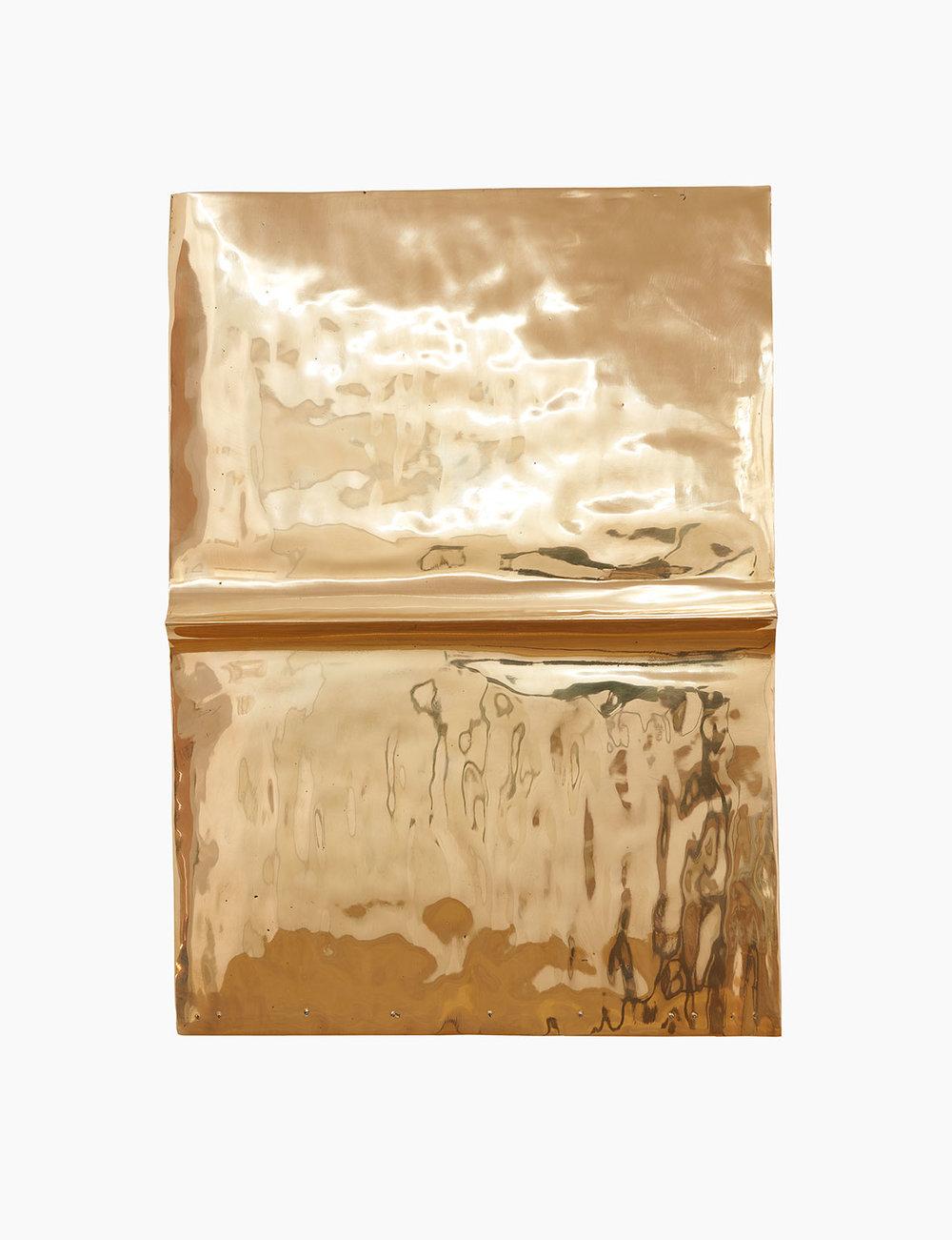 Mike Meiré ELEMENT 79, (ETERNAL NEWS SERIES) 2016  Bronze 48 x 34,5 x 2 cm