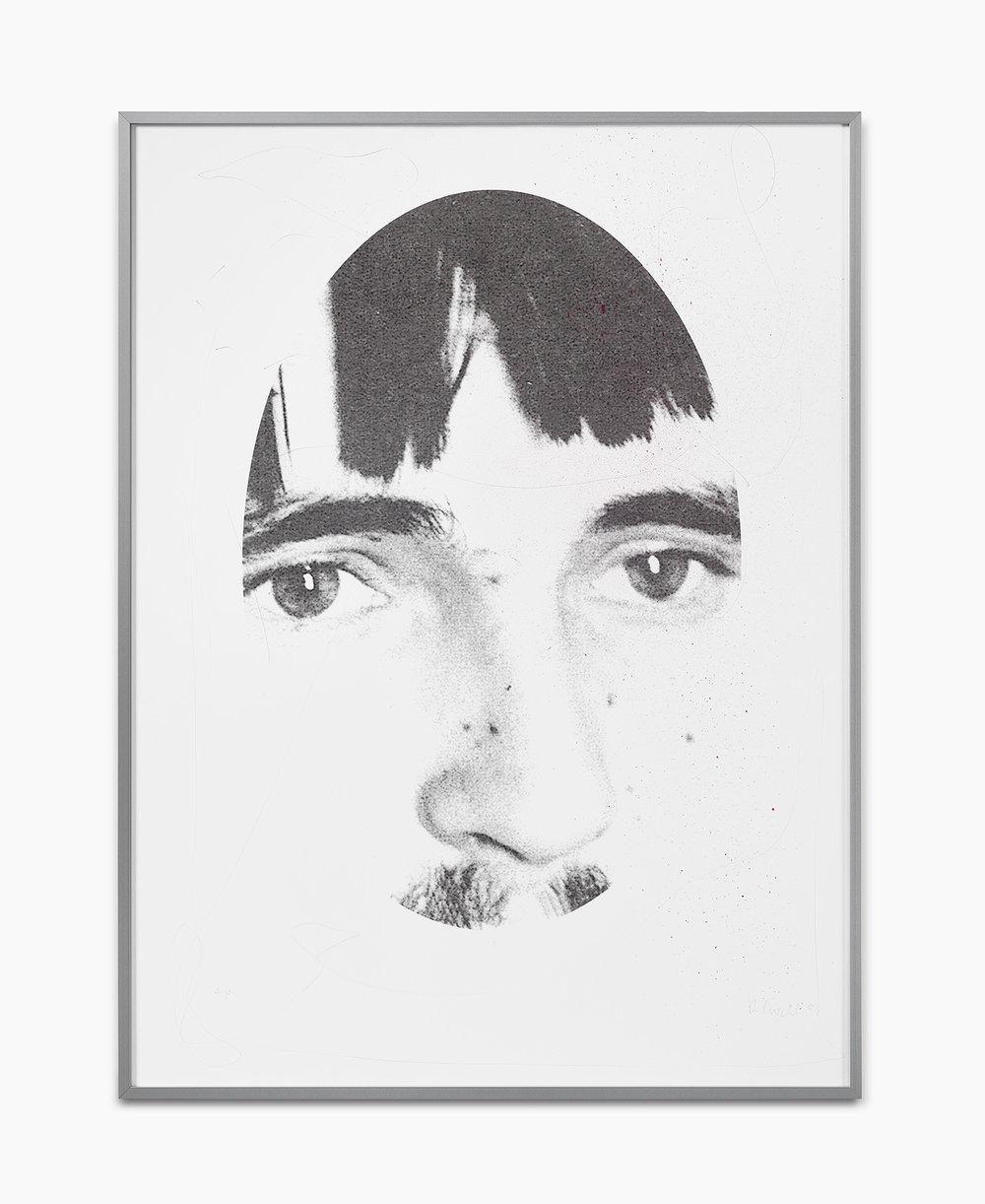 Rosemarie Trockel Cavalli 1998  Siebdruck Bleistift Acryl auf Papier im Künstlerrahmen Ed. Ap (Edition von 10)