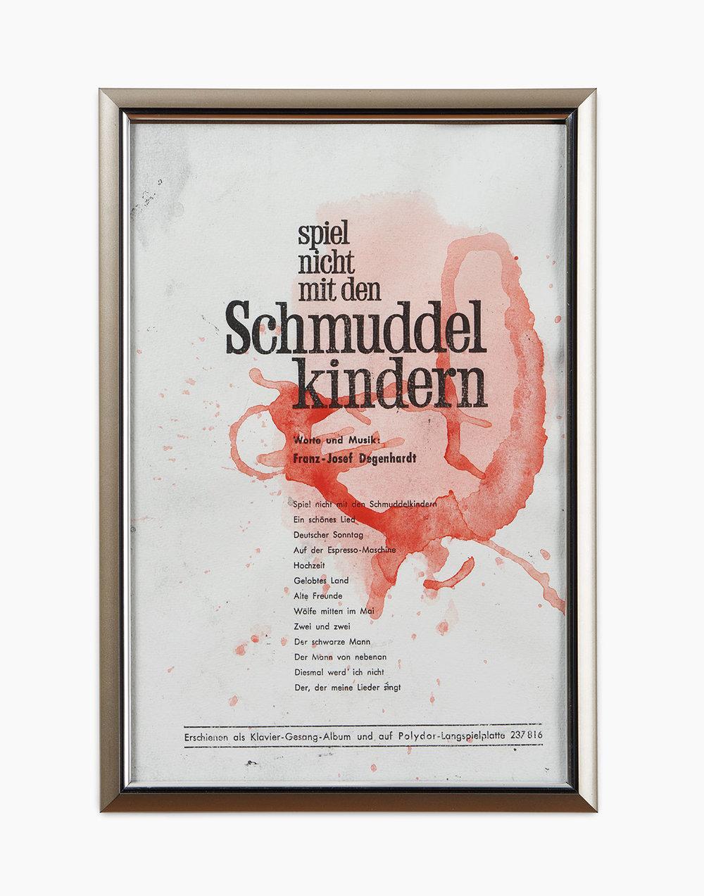 Tilo Riedel Spiel nicht mit den Schmuddelkindern 2016  Aquarell auf Laserprint 29 x 20 cm