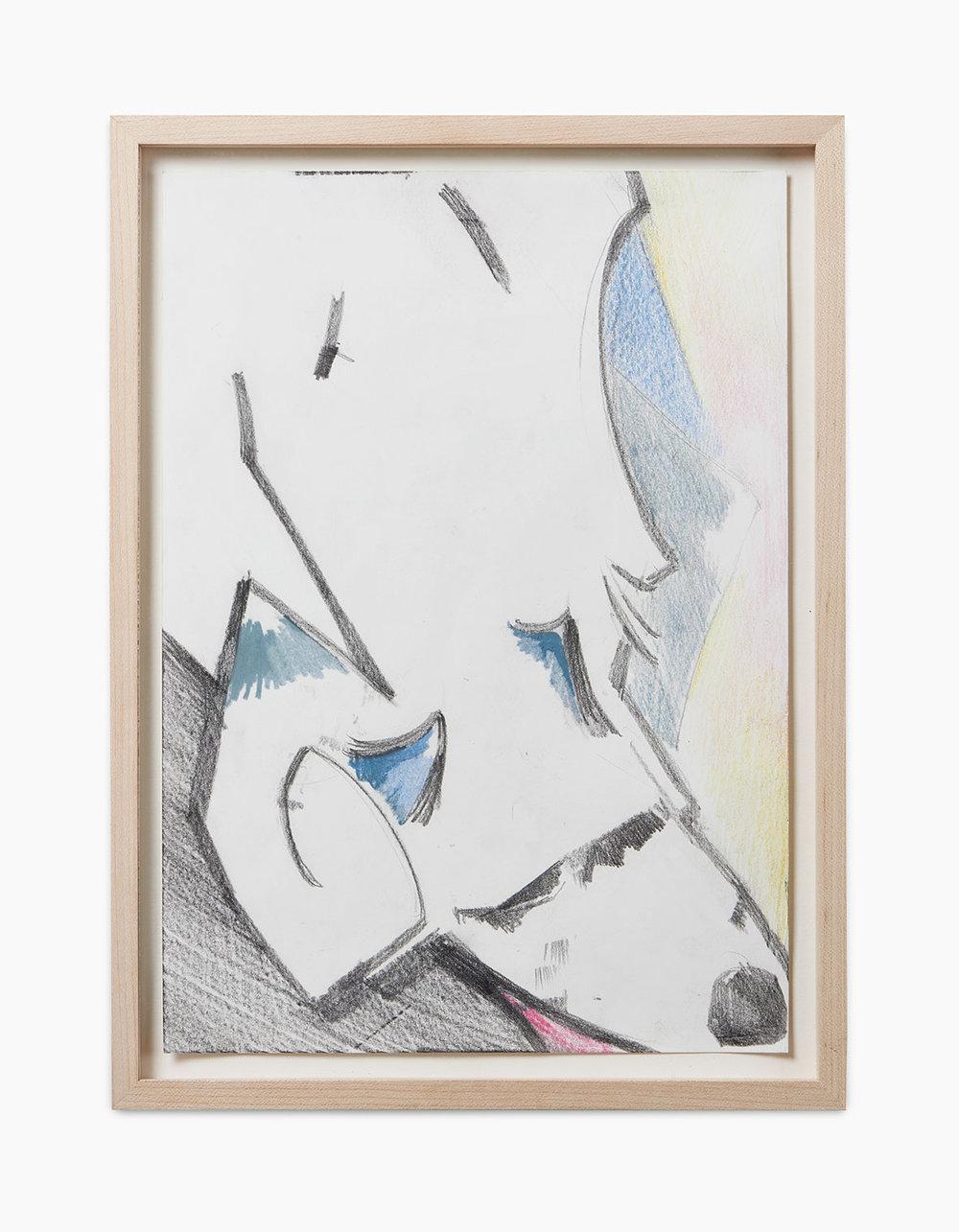 Ralph Schuster Mayday 2016  Buntstift und Bleistift auf Papier 29,7 x 21 cm