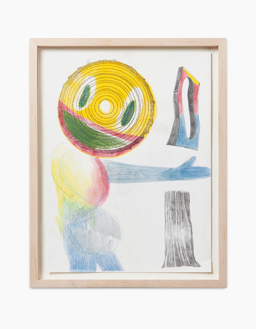 Ralph Schuster Primary Parts 2016  Buntstift, Stempel auf Papier 29,7 x 21 cm