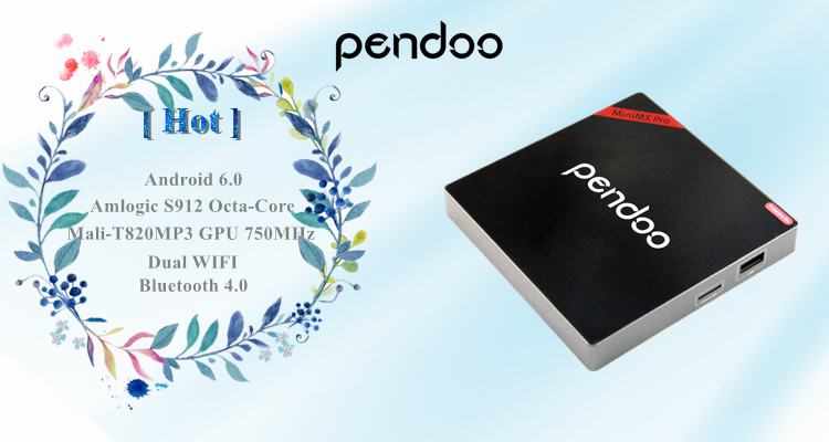 Pendoo minimx pro s912 2g 16g android 6.0 tv box