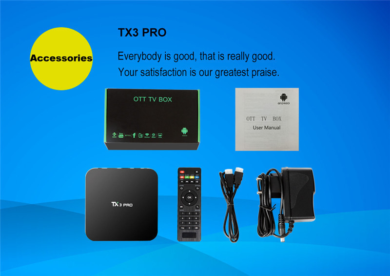 TX3 PRO S905X 1G 8G android6.0 TV box