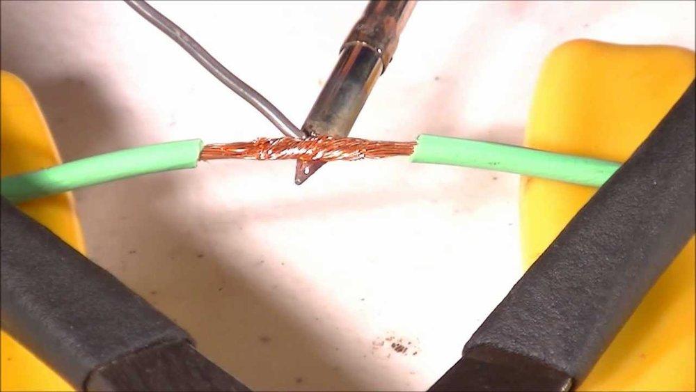 Skjøting av ledninger med loddetinn