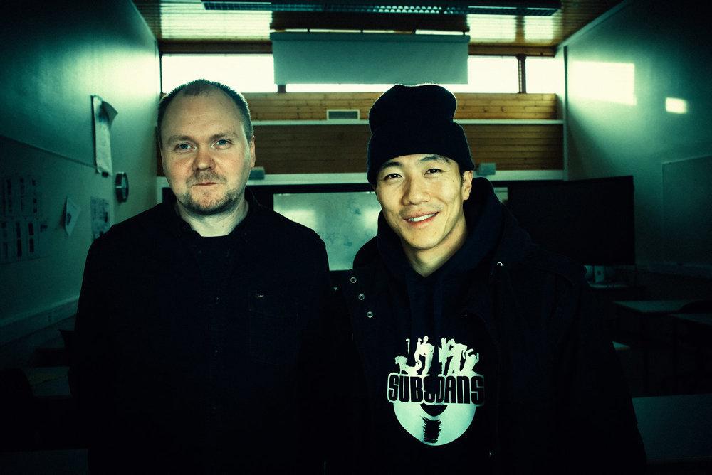 Geir Moen og Mathias Jin Budz. Foto: Vera Micaelsen