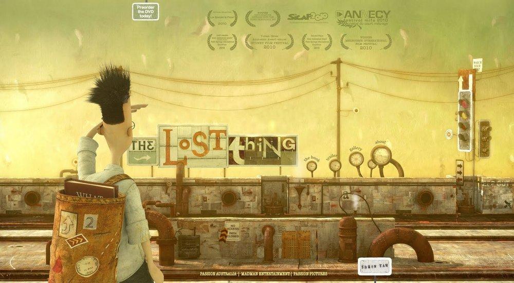 """""""The Lost Thing"""" av Shaun Tan, er både en prisbelønnet bok og film."""