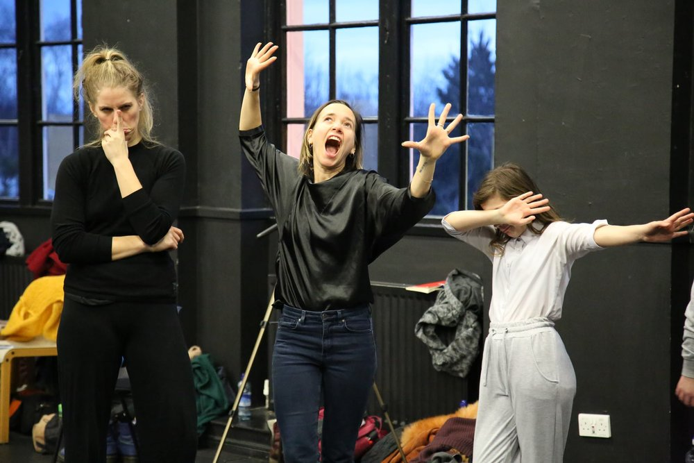 Katja, Ilse og Sandy. Foto: Geraldine Heaney