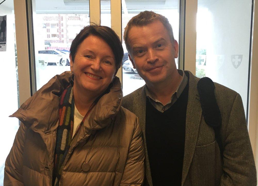 Lin Marie Holvik og Fylkeskultursjef Rune Thele. Foto Kjetil Moen