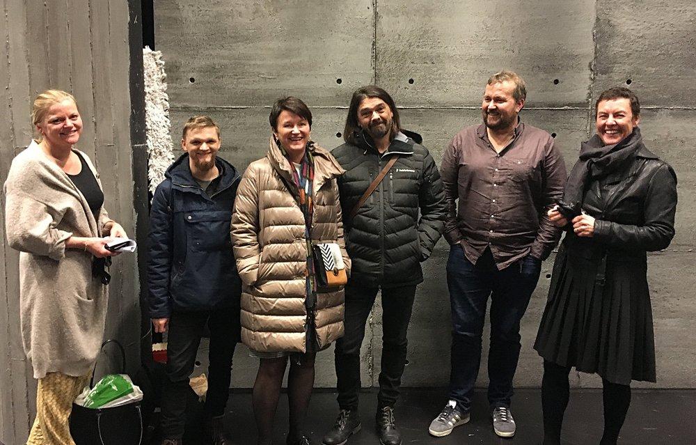 Nina Godtlibsen, Daniel Nørbech, Lin Marie Holvik, Arne Nøst, Bjørn Ravn Carlsen, Ellen Math Henriksen. Foto: Kjetil Moen