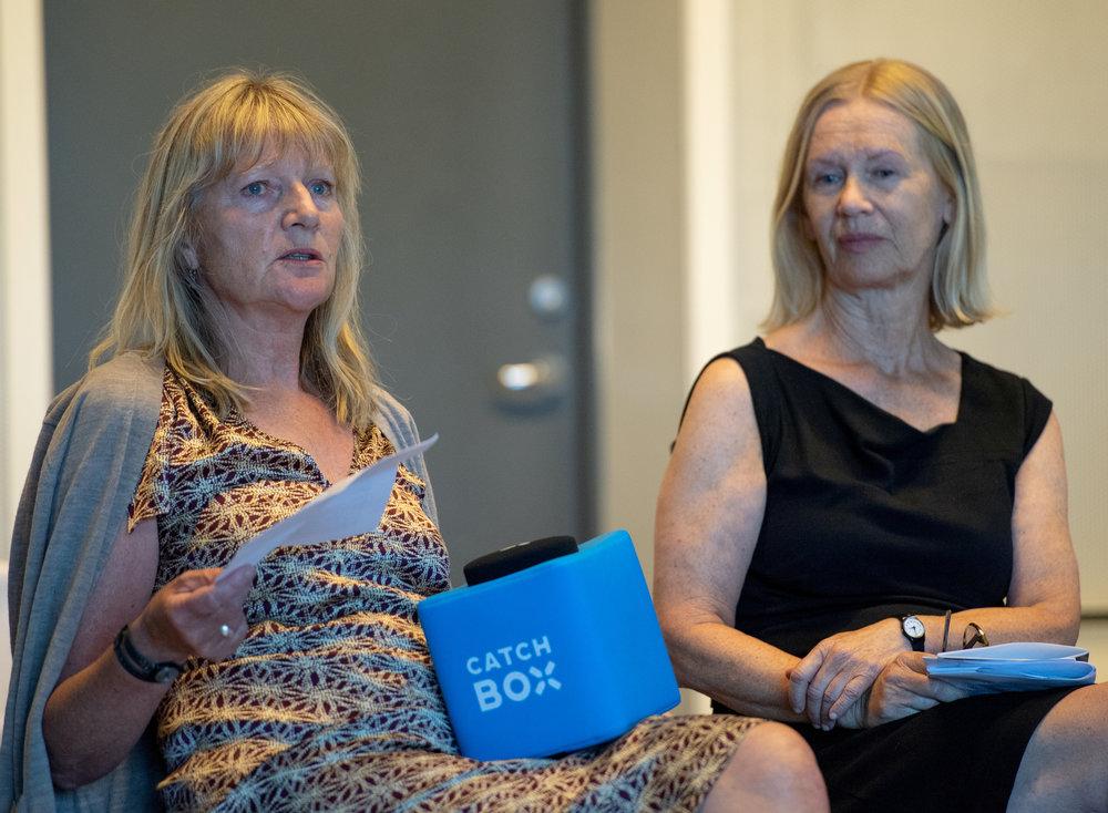 Inga Blix fra Turnéorganisasjonen og Liv Klakegg fra Akershus kunstersenter er to av veteranene på visuell kunst i DKS
