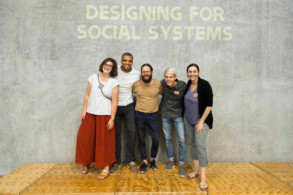 From left to right: Margaret Hagan, Durell Coleman, David Janka, Erik Olesund, Leticia Britos Cavagnaro
