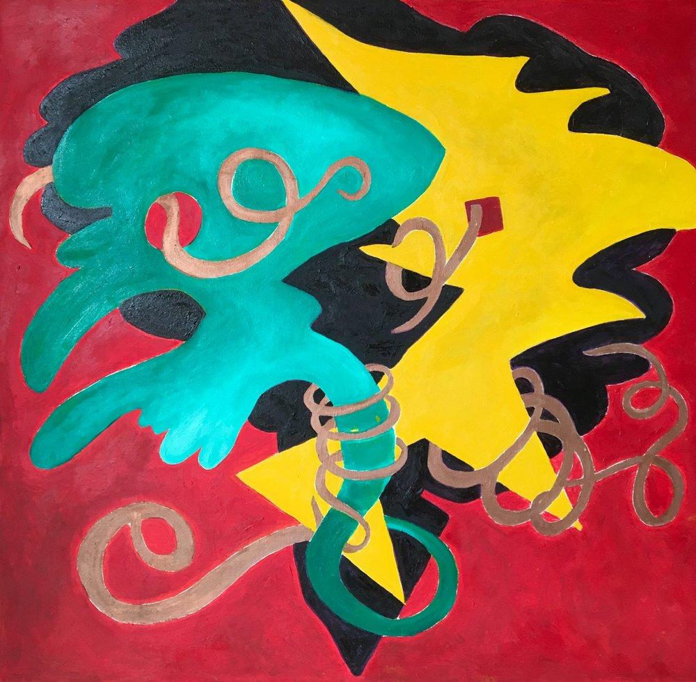 oil on canvas, 80 x 80 cm