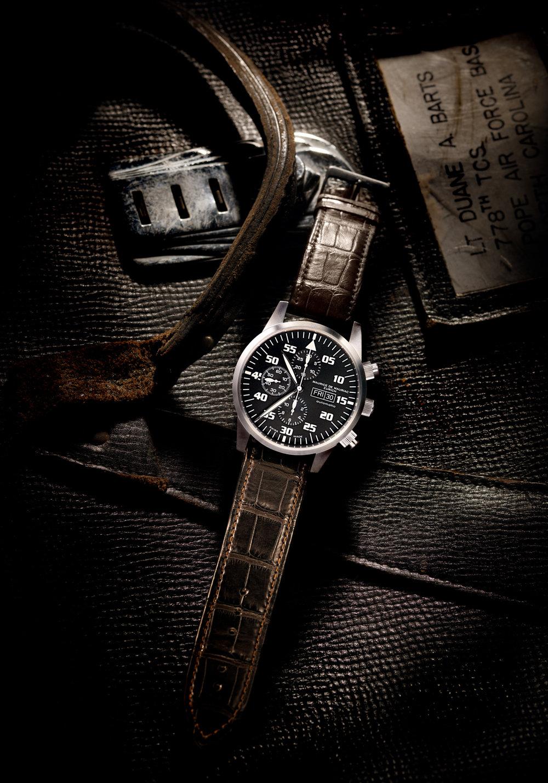 Maurice de Mauriac Pilot Watch, Uhrenfotografie, Zürich, Schweiz