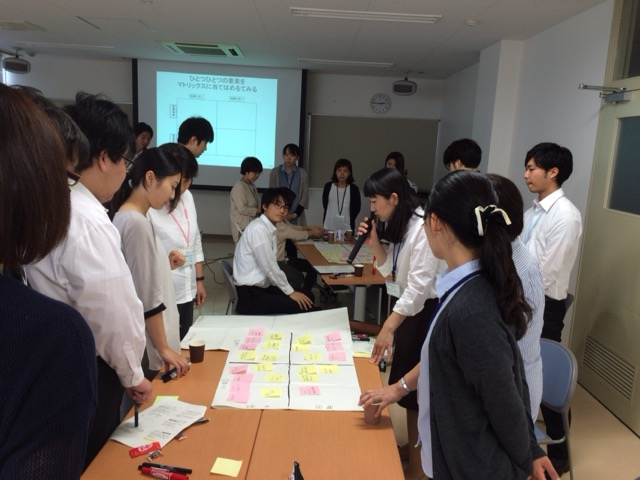 出前講座での演習 Group work in the workshop