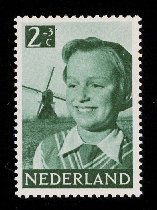 Children's postage stamp  (Kinderpostzegel)  by Cas Oorthuys 12 November 1951