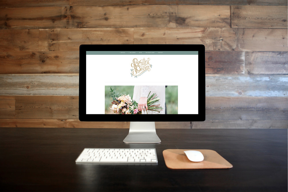 Britni Dean Photography - Texas Wedding and Portrait Photographer. Website Reveal by That's Pretty Ace with Branding by Ink & Laurel.
