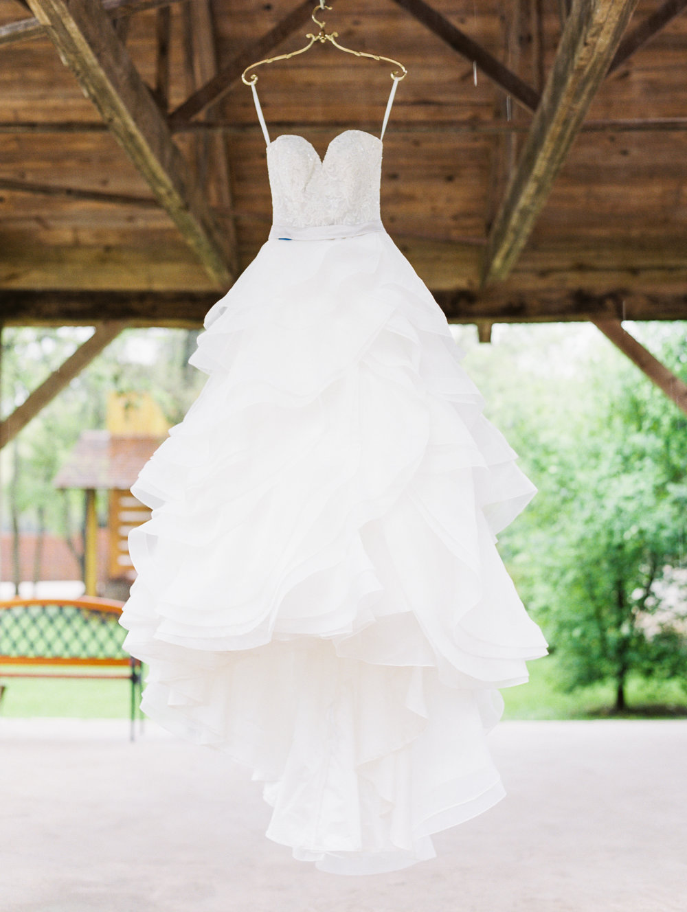 Hill Country Spring Wedding at Red Bud Hall | Austin Wedding Photographer | Film Wedding Photographer | Britni Dean Photography | Rainy Day Wedding Inspiration | ruffle wedding gown