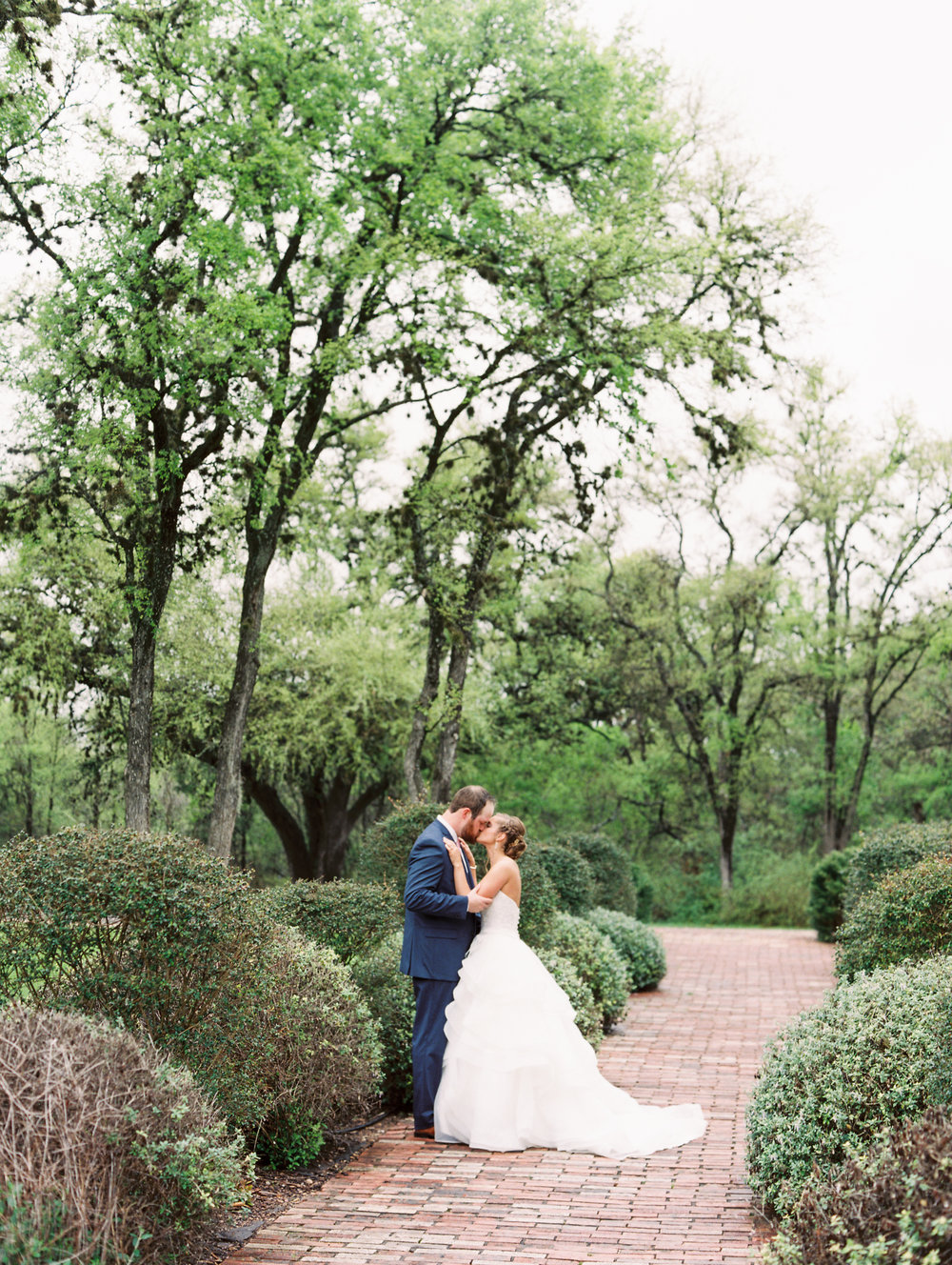 Hill Country Spring Wedding at Red Bud Hall | Austin Wedding Photographer | Film Wedding Photographer | Britni Dean Photography | Rainy Day Wedding Inspiration | bride and groom portraits