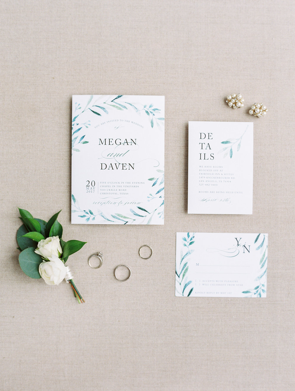 Elegant Spring Vineyard Wedding | Film Wedding Photographer | Austin Wedding Photographer | Natural Wedding Invitation | Britni Dean Photography // britnidean.com