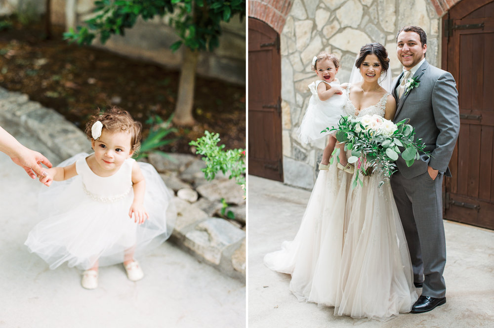 Elegant Spring Vineyard Wedding | Film Wedding Photographer | Austin Wedding Photographer | Adorable Flower Girl | Britni Dean Photography // britnidean.com