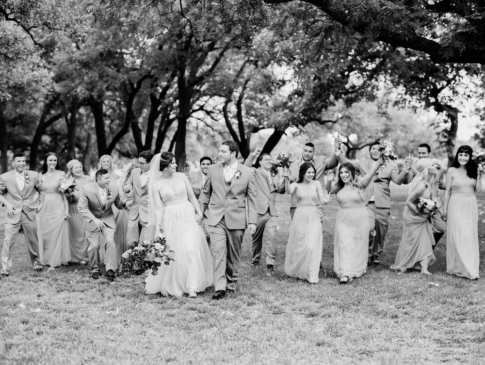 Elegant Spring Vineyard Wedding | Film Wedding Photographer | Austin Wedding Photographer | Fun Bridal Party Photos  | Britni Dean Photography // britnidean.com
