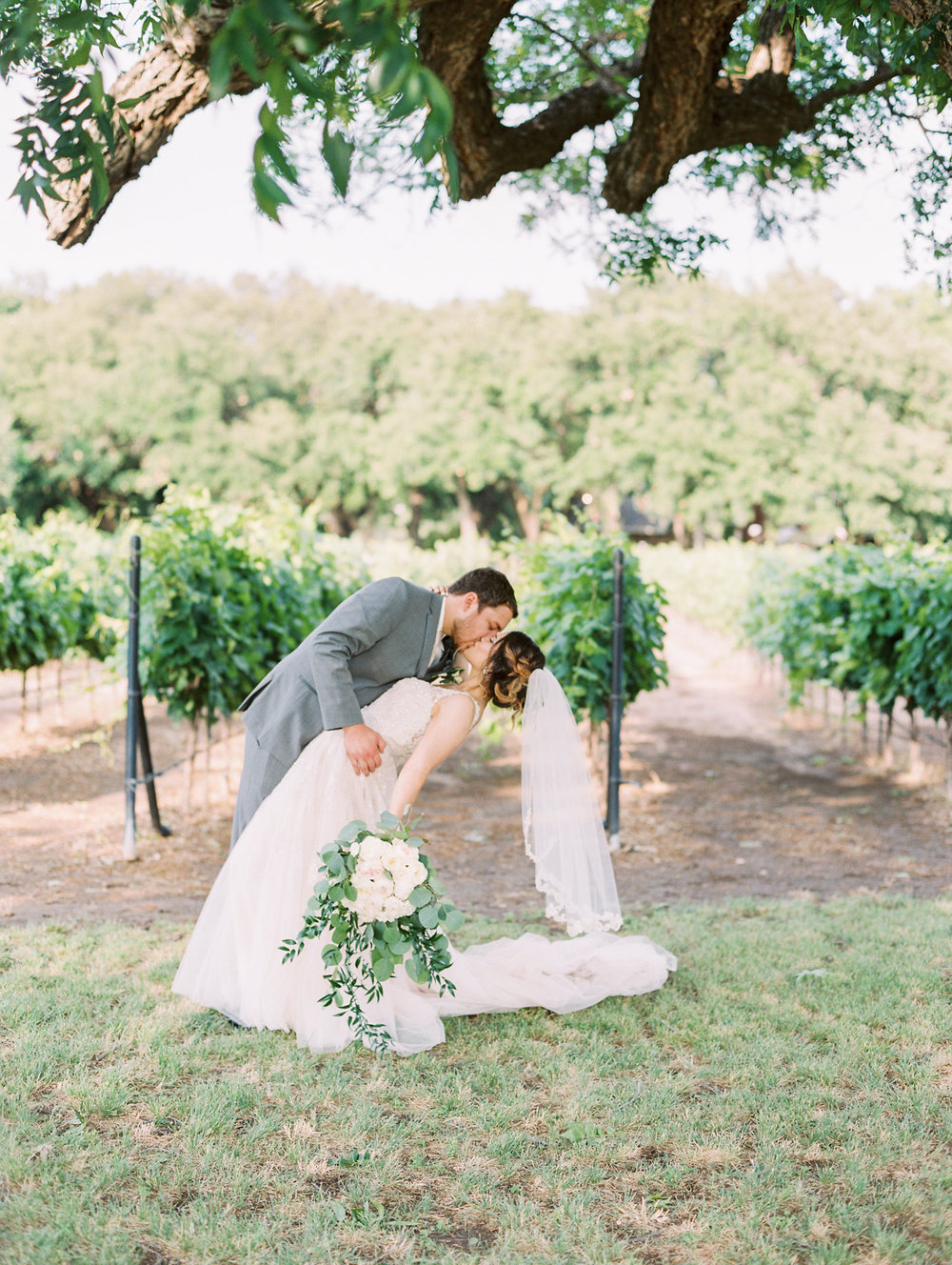 Elegant Spring Vineyard Wedding | Film Wedding Photographer | Austin Wedding Photographer | Bride and Groom Romantic Photos | Britni Dean Photography // britnidean.com