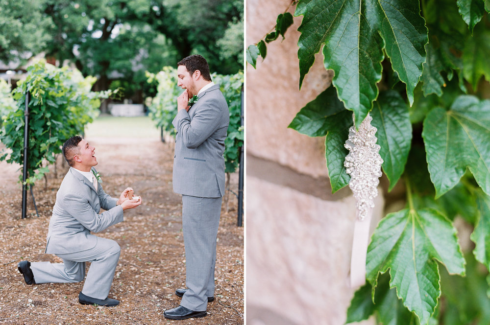 Elegant Spring Vineyard Wedding | Film Wedding Photographer | Austin Wedding Photographer | Fun Groomsmen Photos with Best Man | Britni Dean Photography // britnidean.com