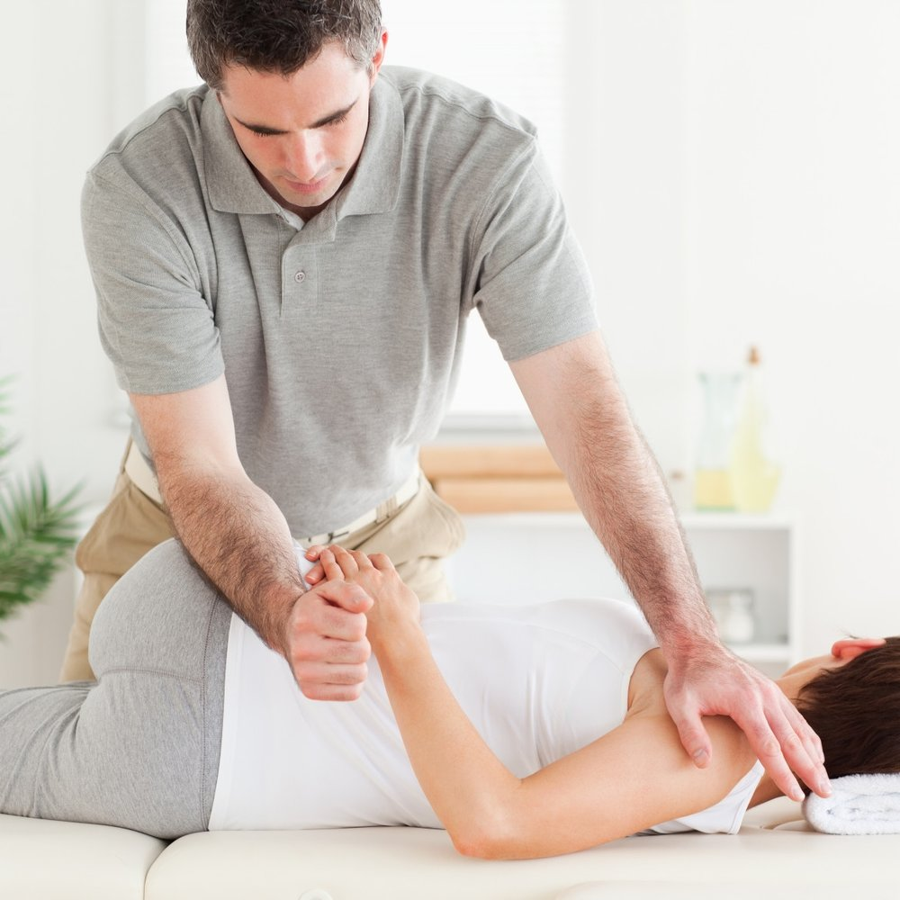 PHYSIOTHERAPY  Physiotherapy is a hands-on treatment, manual therapy to help people affected by injury, illness or disability. It is complimented with movement, exercise, education and advice.