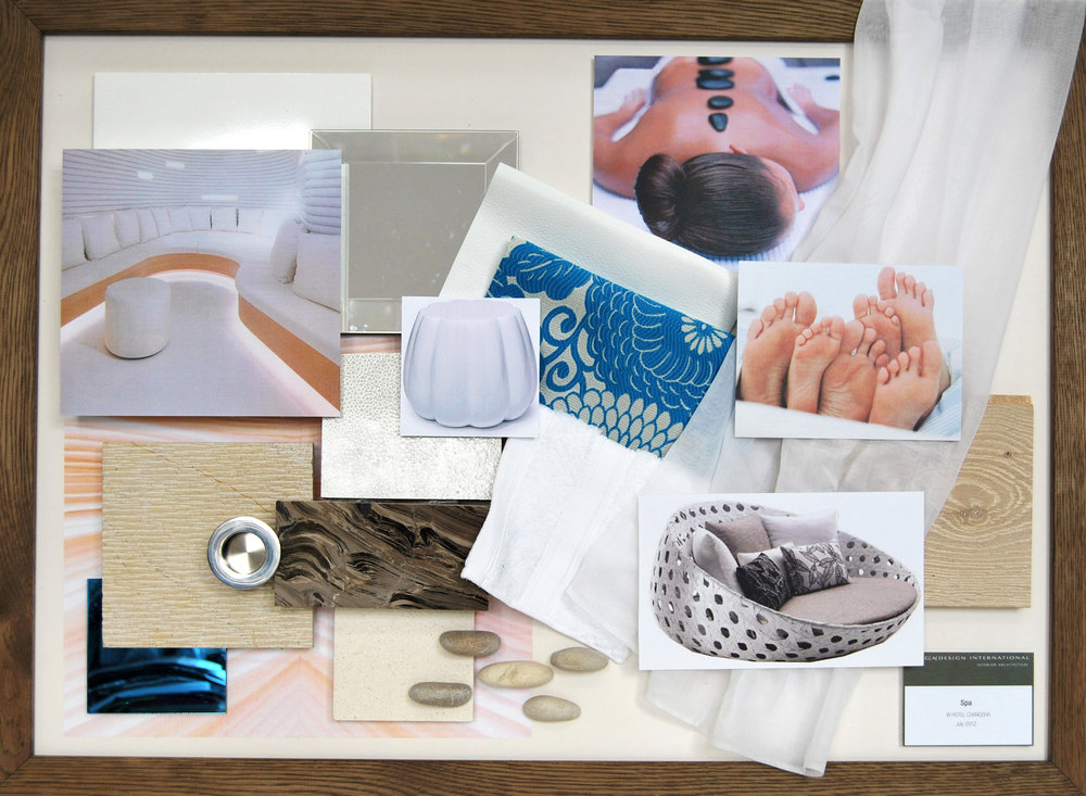 W Hotel Spa Design Mood Board