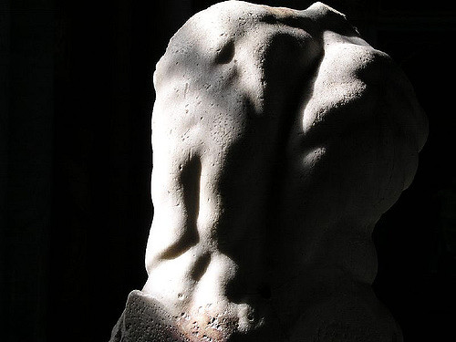 """Belvedere Torso—Vatican Museum"" by  Joao maximo  via Flickr,  Creative Commons  (11/19/2018), Home page banner, cropped with overlay"