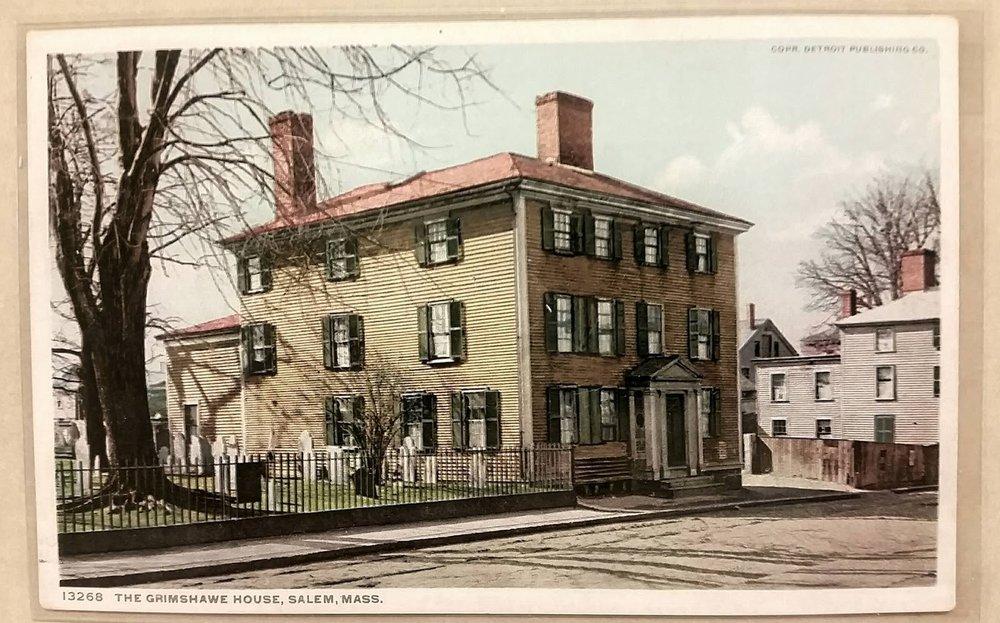 Sophia Peabody's home next to Charter Street Burying Ground, resting place of Judge Hathorne, Salem, MA